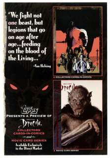 1992 Stokers Dracula Topps Trading Card Store Promo MT