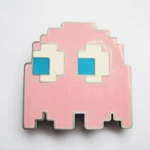 Pac Man Pacman Pink Video Game Belt Buckle (New