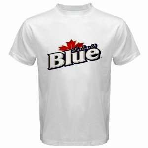 Labatt Blue Beer Logo New White T Shirt Size  XL