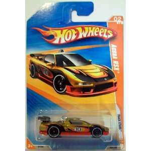 2010 Hot Wheels 058/240 Acura NSX Gold/Red 164 Toys