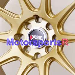 15 15x8.25 XXR 527 Gold Concave Rims 8 Miata E30 Wheels