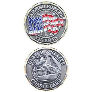 United States Coast Guard Proudly Served Challenge Coin