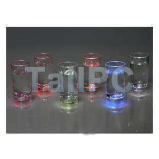 Activated Color Change Flash Light LED Glass Cup For Bar Club Party
