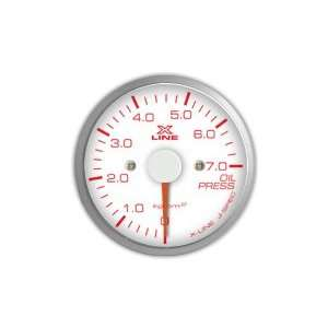 STRI Racing X Line 60mm Oil Pressure Gauge White Dial Automotive