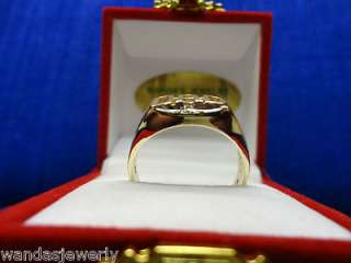 10K YELLOW GOLD DIAMOND DAD RING, SIZE 10.5