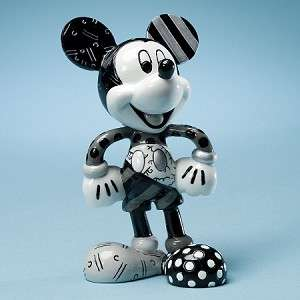 DISNEY BY BRITTO   Mickey Mouse Black & White Figurine