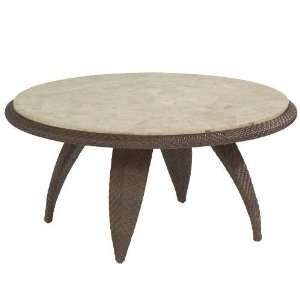 White Craft S533213 Bali Cocktail Table with Stone Top in