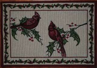 ~Cardinal~Christmas~Red Bird~Holly~Berry~Winter~Holiday~NEW