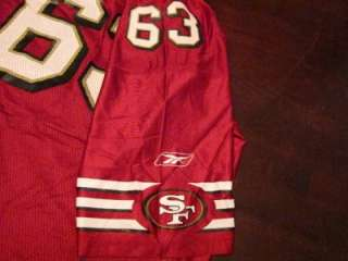 Custom Austin San Francisco 49ers #63 NFL Football Jersey Sz M