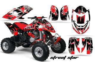GRAPHIC DECAL KIT ATV CANAM BOMBARDIER DS650 DS 650 X STREET STAR RED