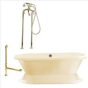 Giagni LW2 Wescott 72 Dual Tub with Floor Mount Faucet Faucet Finish