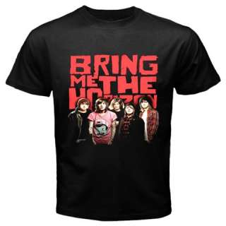 BRING ME THE HORIZON BAND METALCORE DEATHCORE ROCK MUSIC MENS BLACK T