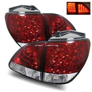 01 03 Lexus RX300 LED Tail Lights   JDM Red Clear