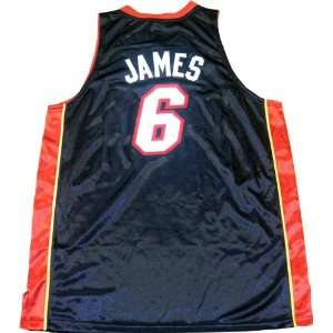 LeBron James Unsigned Authentic Miami Heat Black Jersey