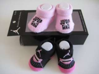 Nike Jordan Infant New Born Baby 0 6 Months Pink and Black