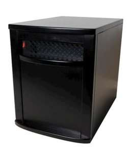 Watt Infrared Quartz Heater 1000 Sq FT. Space Heater   Black