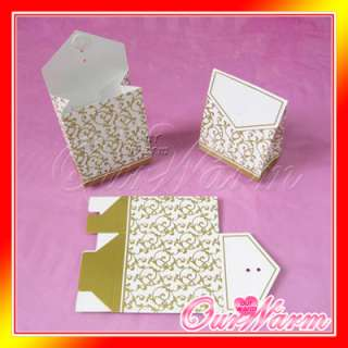 100 Gold Wedding Party Candy Bombonier Gift Favor Boxes