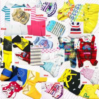 DOG PET clothes apparel dress shirt 12styles w free toy