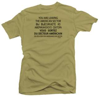 Checkpoint Charlie WW2 USA Military Army T shirt