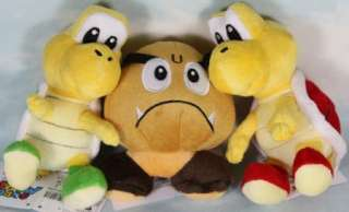 lot 3 super mario bros goomba koopa troopa 5 6 plush
