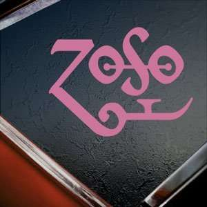 Led Zeppelin Pink Decal Page Rock Band Window Pink Sticker