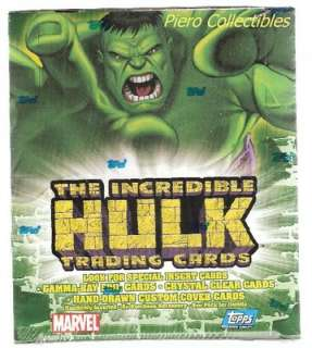 Incredible Hulk Trading Cards   Box 24 Packs   Topps
