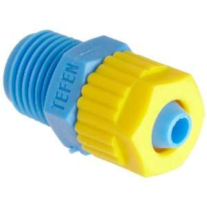 Tube Fitting, Adapter, Yellow/Blue, 1/2 Tube OD x 1/2 BSPT Male