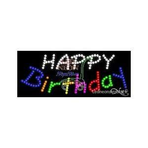 Happy Birthday LED Sign 11 inch tall x 27 inch wide x 3.5