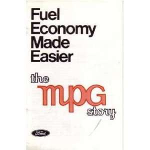1974 FORD MPG Story Sales Brochure Literature Book Automotive