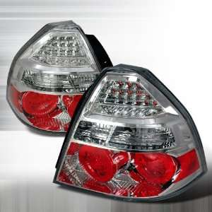 2009 2011 Chevy Aveo Led Tail Lights Chrome Sedan Only