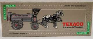 NEW Texaco Horse and Tanker Coin Bank ERTL #8 1991