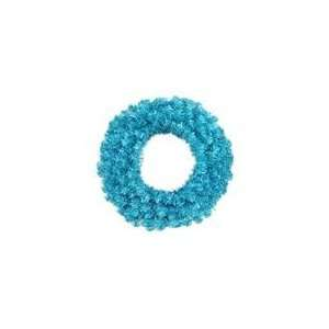 Sparkling Sky Blue Artificial Christmas Wreath   Blue