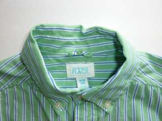 The Childrens Place Boy Spring Green Pin stripe Dress Shirt & Pant