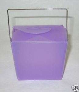 12 LAVENDER SM TAKEOUT BOXES Bridal Baby Shower FAVORS