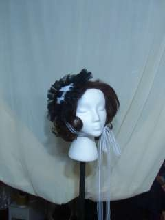 Gothic Victorian Steampunk lolita Civil War hat bonnet