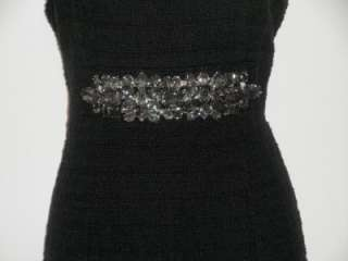 NEW BOSTON PROPER Black Boucle Sheath Dress Size  Small