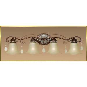 Wrought Iron Wall Sconce, JB 7355, 4 lights, Oxide Bronze, 33 wide X