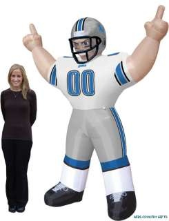 Detroit Lions NFL Large 8 Ft Inflatable Football Player
