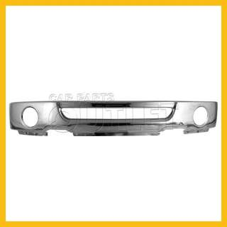 06 07 08 FORD F150 FRONT CHROME BUMPER W/ROUND FOG HOLE
