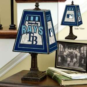 MLB Tampa Bay Rays Art Glass Table Lamp