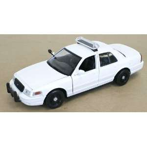 Crown Vic Police Car   Blank White   Case Of 12 Cars Toys & Games