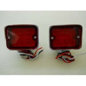 Red 6 LED Hot Rod Classic Car Stop Turn Brake Tail Lights