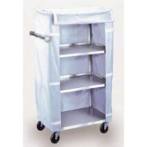 Stainless Steel Linen Cart   3 Shelf Cart, without Cover