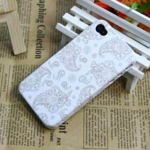 White) Flowers Pattern Plastic Protective Case / Cover / Skin / Shell
