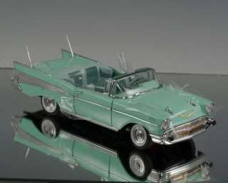 Danbury Mint Die cast car 1957 Chevy Chevrolet Bel Air Surf Green