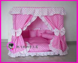 Sweet Princess Dog Cat handmade bed house Pink S,M