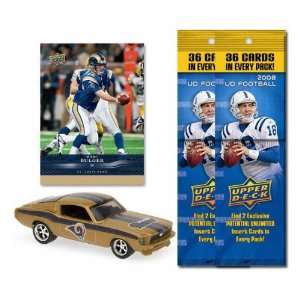 St. Louis Rams 1967 Ford Mustang Fastback Die Cast with Marc Bulger