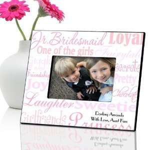 Personalized Junior Bridesmaid Frame   Shades of Pink Baby