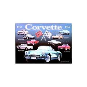 Chevrolet Corvette Collage Metal Sign