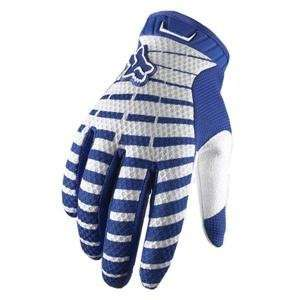Fox Racing Airline Gloves   Large/Blue Automotive